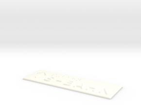 S-BAHN mit Pfeil nach oben in White Processed Versatile Plastic