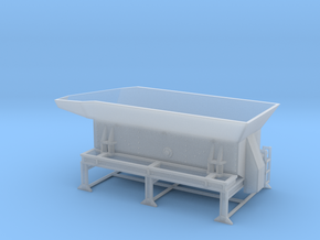 1/64th Crusher trailer Feed hopper  in Smooth Fine Detail Plastic