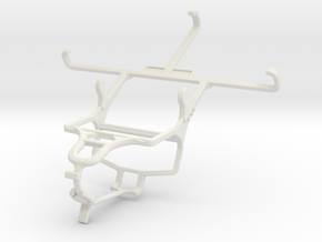 Controller mount for PS4 & Samsung Galaxy Grand Ne in White Natural Versatile Plastic