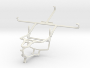 Controller mount for PS4 & Samsung Galaxy Mega 2 in White Natural Versatile Plastic