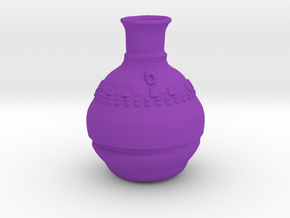 Smallish Vase v.2 in Purple Processed Versatile Plastic