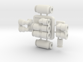 Hose Manifolds &  Couplers in White Natural Versatile Plastic
