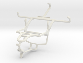 Controller mount for PS4 & Samsung Galaxy Star 2 P in White Natural Versatile Plastic