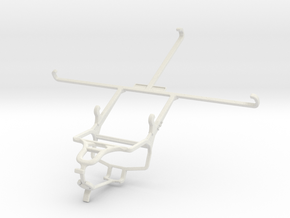Controller mount for PS4 & Samsung Galaxy Tab 4 8. in White Natural Versatile Plastic