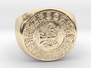 Calendar Maya in 14K Yellow Gold
