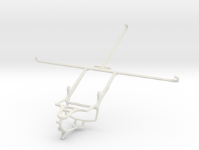 Controller mount for PS4 & Sony Xperia Z2 Tablet L in White Natural Versatile Plastic
