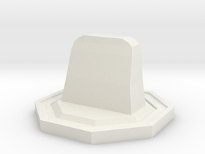 Tombstone Token in White Natural Versatile Plastic