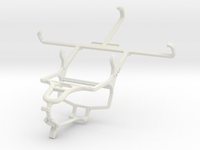 Controller mount for PS4 & Spice Mi-504 Smart Flo  in White Natural Versatile Plastic