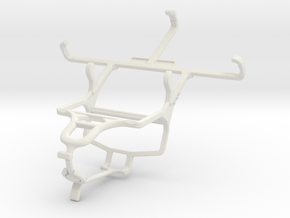 Controller mount for PS4 & verykool s4010 Gazelle in White Natural Versatile Plastic