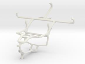 Controller mount for PS4 & verykool SL5000 Quantum in White Natural Versatile Plastic