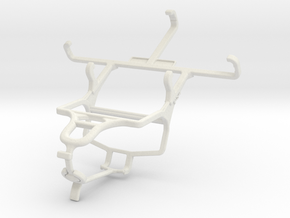 Controller mount for PS4 & Yezz Andy 4E2I in White Natural Versatile Plastic