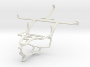 Controller mount for PS4 & Yezz Andy 5T in White Natural Versatile Plastic