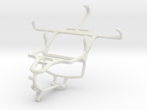 Controller mount for PS4 & Yezz Billy 4 in White Natural Versatile Plastic