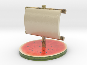 Melon Fleet in Glossy Full Color Sandstone: Large