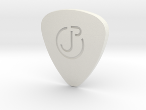 Engraved Logo ThickPick in White Natural Versatile Plastic