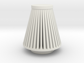Cone Air Filter 1/12 in White Natural Versatile Plastic
