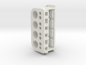 CylBlock in White Natural Versatile Plastic