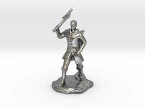 Human Ranger With Axe in Natural Silver