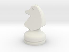 MILOSAURUS Chess LARGE Staunton Knight in White Natural Versatile Plastic