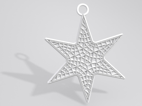 Star Ornament Medium in White Strong & Flexible