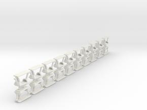 "Gondeln ""Enterprise""  1:87 (H0 scale) in White Natural Versatile Plastic"