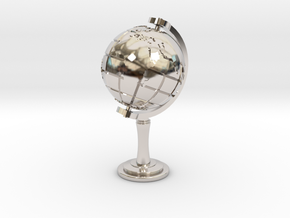 World Sculpture in Rhodium Plated Brass