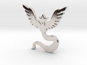 Team Mystic - Pokemon Go in Rhodium Plated Brass