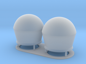 1:96 scale SatCom Dome Set 2 in Smooth Fine Detail Plastic