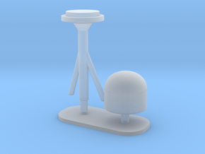 1:96 scale SatCom Dome Set 6 in Smooth Fine Detail Plastic