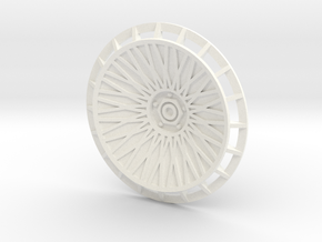 BBS Wheel Cover/Fan With Spokes and Axle in White Processed Versatile Plastic