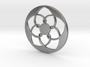 Lotus Pendant I in Natural Silver