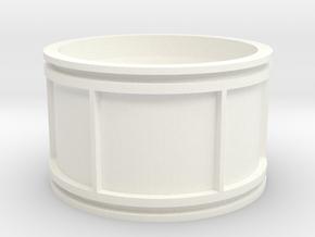 Custom Concave Rim--Left Side in White Processed Versatile Plastic