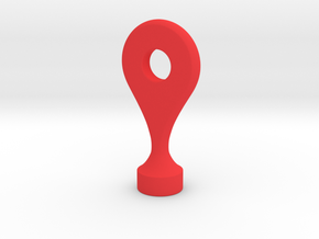 Google Maps Marker - Magnet (with hole) in Red Processed Versatile Plastic