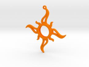 Sun Pendant in Orange Processed Versatile Plastic