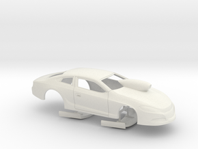 1/8 2014 Dodge Dart Pro Stock in White Natural Versatile Plastic