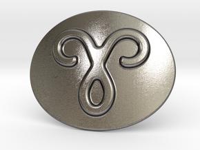 Aries Belt Buckle in Polished Nickel Steel