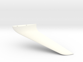 Winglet-left-10-002 in White Processed Versatile Plastic