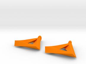 Penrose Triangle - Earrings (17mm | 2x mirrored) in Orange Processed Versatile Plastic