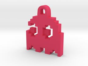 Pac Man Ghost 8-bit Earring 2 (looks left | moving in Pink Strong & Flexible Polished