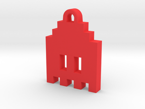 Pac Man Ghost 8-bit Earring 1 (looks down | moving in Red Processed Versatile Plastic