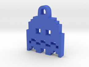 Pac Man Ghost 8-bit Earring 2 (afraid | moving) in Blue Processed Versatile Plastic
