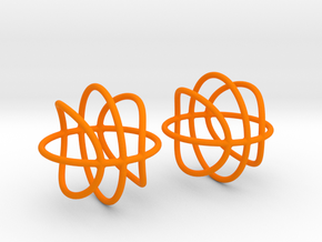 Basketball Wireframe Earrings in Orange Processed Versatile Plastic