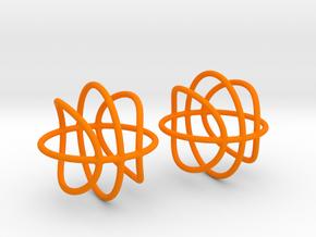 Basketball Wireframe Earrings in Orange Processed Versatile Plastic