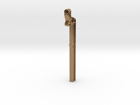 AxleBeam-Half in Natural Brass