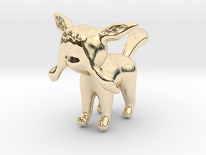 Glaceon in 14k Gold Plated Brass