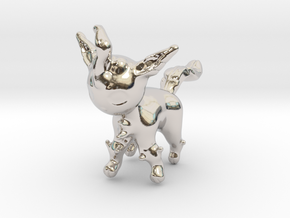Leafeon in Rhodium Plated Brass