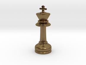 MILOSAURUS Chess MINI Staunton King in Polished Bronze