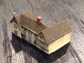 1:700 Scale Parham Village House 6 in Smooth Fine Detail Plastic