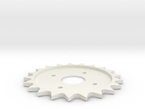 Spitfire Trim Wheel Cog in White Natural Versatile Plastic
