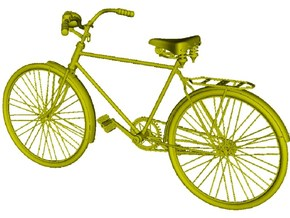 1/24 scale WWII Wehrmacht M30 bicycle model x 1 in Smooth Fine Detail Plastic